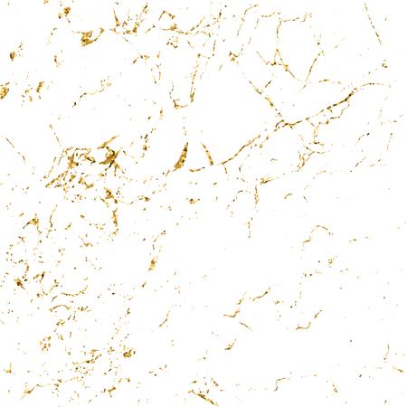 Marmer goud grunge textuur. Patina kras gouden elementen. Sketch oppervlak verontrust effect te creëren. Overlay nood graan grafisch ontwerp. Modieuze moderne achtergrond decoratie. Vector Illustratie