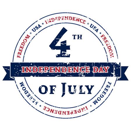 Symbool voor de Amerikaanse 4 juli vakantie, de viering van Independence Day. Patriotic Typografie Graphics. National printing design. Fashion Print sportkleding kleding, t-shirt, kaart, banner Vector illustratie
