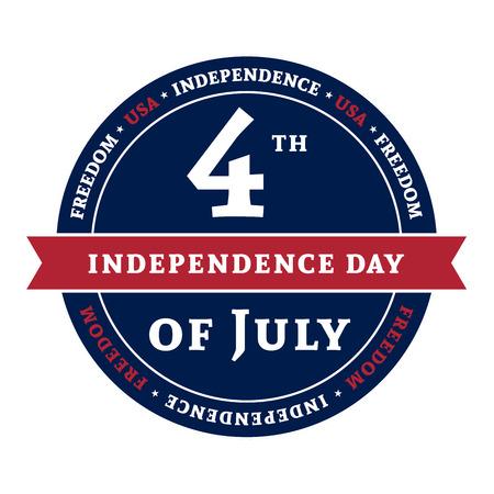 Symbool voor de Amerikaanse 4 juli vakantie, de viering van Independence Day. Patriotic Typografie Graphics. National printing design. Fashion Print kleding sportkleding, t-shirt, kaart, spandoek illustratie Stockfoto