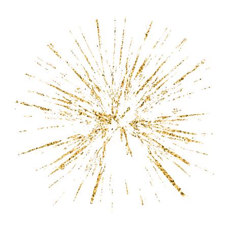 produits céréaliers: Brisé or trou de verre grunge texture et blanc. Dessinez abstraite pour créer un effet de détresse. détresse Overlay conception du grain d'or. fond moderne élégant pour les produits d'impression. Vector illustration