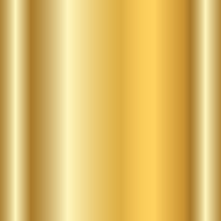 metalic sheet: Gold texture. Golden gradient smooth material background. Textured bright metal with light, shiny. Metallic blank backdrop decorative pattern. Abstract art for banner, invitation. Vector Illustration.