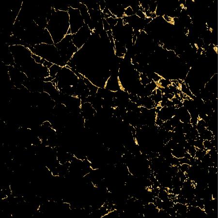 eisw  rfel schwarz: Marble Gold Grunge-Textur. Patina Kratzer goldenen Elementen. Sketch Oberfläche beunruhigten Effekt zu erzeugen. Overlay Not Korngrafikdesign. Stilvolle moderne Hintergrunddekoration. Vektor-Illustration