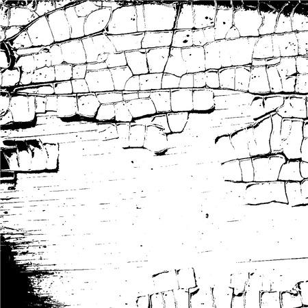 texture craquelée blanc et noir. Grunge croquis texture effet. Crack design pour sol design, mur, béton, peinture, terre. fond moderne élégant pour différents produits d'impression. Vector illustration Vecteurs