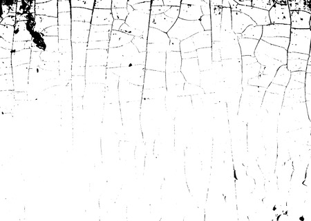 cracked earth: Cracked texture white and black. Grunge sketch effect texture. Crack design for design ground, wall, concrete, paint, earth. Stylish modern background for different print products. Vector illustration Illustration