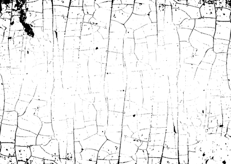Cracked texture white and black. Grunge sketch effect texture. Crack design for design ground, wall, concrete, paint, earth. Stylish modern background for different print products. Vector illustration Illustration