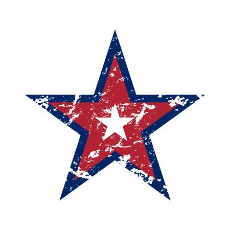미국 국기 스타 grunge 요소, 기호 4 월 독립 기념일 축 하. 애국적인 타이포그래피 그래픽. 국가 디자인. 패션 인쇄 운동복 의류, 티셔츠, 카드 벡터 일러스트 레이 션 스톡 콘텐츠 - 61775186
