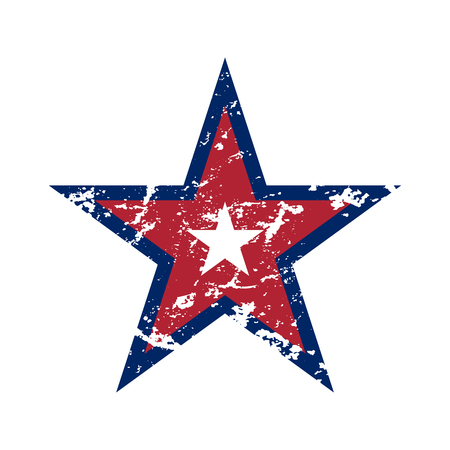 American flag star grunge element, symbol 4th of July, Independence Day celebration. Patriotic Typography Graphics. National design. Fashion Print sportswear apparel, t shirt, card Vector illustration Illustration