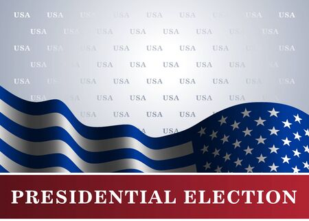 conservative: American flag, for Presidential Election, vote, 4th July, Independence Day celebration. Patriotic background. National design. Symbol the United State of America. Vector illustration