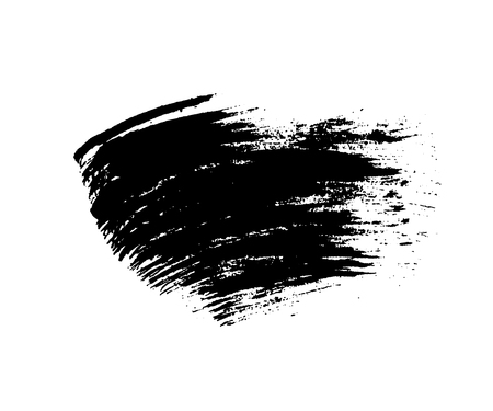 distressed background: Grunge brush texture white and black. Sketch abstract to create distressed effect. Overlay distress dirty monochrome design. Stylish template modern background. Smear paint prints. Vector illustration