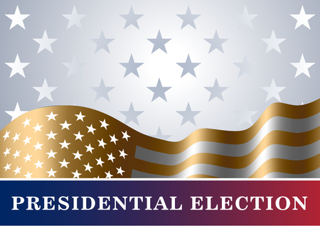 state election: American flag, for Presidential Election, vote, 4th July, Independence Day celebration. Patriotic background. National design. Symbol the United State of America. Vector illustration