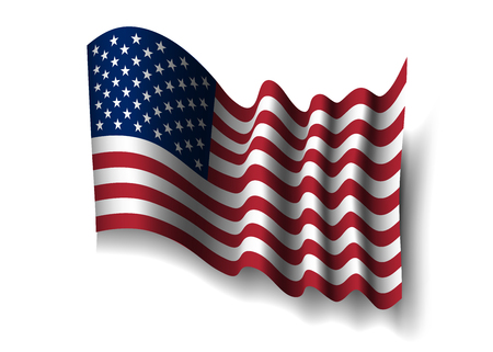state election: American flag, for 4th July, Independence Day celebration, Presidential Election, vote. Patriotic realistic graphics. National design. Symbol the United State of America. Vector illustration