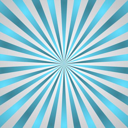 burst background: Blue gray rays poster. Popular ray star burst background television vintage. Dark-light radial abstract texture with sunburst, flare, beam. Retro art design. Glow bright pattern. Vector Illustration
