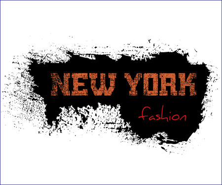old new york: T shirt typography graphics New York. Athletic style NYC. Fashion american stylish print for sports wear. Grunge emblem. Template for apparel, card, poster. Symbol of big city. Vector illustration