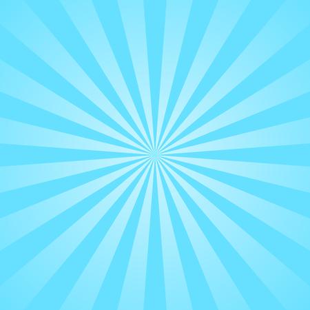Blue rays Plakat. Beliebte ray-Sterne-Hintergrund Fernsehen Jahrgang platzen. Dunkelblaue und hellblaue abstrakte Textur mit Sunburst, aufflackern, Strahl. Retro-Kunstentwurf. Glow helles Muster. Vektor-Illustration