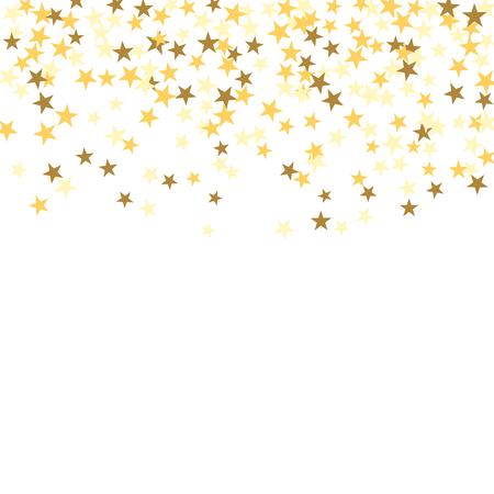Or confetti étoile célébration isolé sur fond blanc. Tomber décoration abstraite d'or pour la fête, anniversaire célébrer, anniversaire ou Noël, Nouvel An. décoration festival. Vector illustration Banque d'images - 65039041