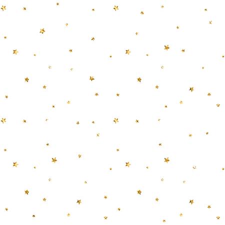 원활한 패턴 금색과 흰색 복고풍 배경 별. 벽지, 크리스마스 장식, 색종이, 섬유, 포장에 대 한 추상 밝은 황금 디자인. 휴일의 상징. 벡터 일러스트 레 일러스트