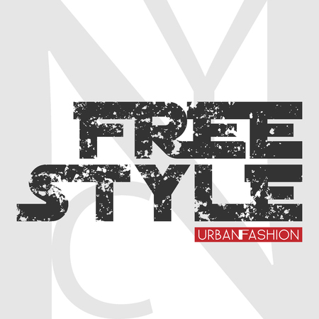 urban fashion: New York city Typography Graphics. Stylish printing design for sportswear apparel. NY original wear. Urban Fashion of NYC. Concept in modern style for different print production. Stock Photo