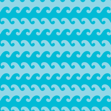 Seamless wave patterns. Fashion graphics design. Abstract marine in ocean colors. Suitable for fabric or background design. Graphic style for wallpaper, apparel and other print production.