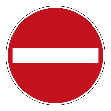 do not enter: Do not enter blank sign. Warning red circle icon isolated on white background. Prohibition concept. No traffic street symbol. illustration Stock Photo