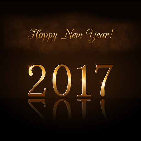 66216001 happy new year background gold numbers 2017 card christmas design with light vibrant glow and sparkle glitter