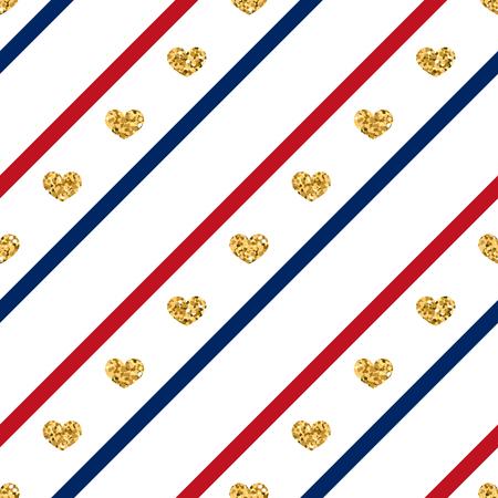 Gold-Herz Nahtlose Muster. Goldenes Funkeln Liebe Konfetti Herzen ...