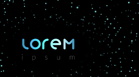 lorem ipsum template with night sky stars for quote space abstract