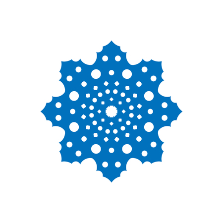 lightweight ornaments: Snowflake sign. Blue Snowflake icon isolated on white background. Snow flake silhouette. Symbol of snow, holiday, cold weather, frost. Winter design element Vector illustration