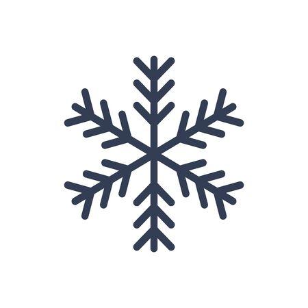 lightweight ornaments: Snowflake icon. Black silhouette snow flake sign.
