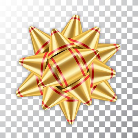 Gold bow ribbon decor