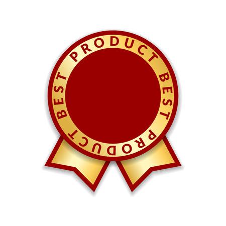 Ribbon award best product of year Illustration