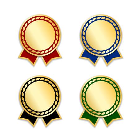 Award ribbons set illustration. Illustration