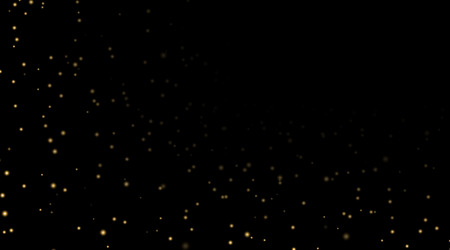 Night Sky With Gold Stars On Black Background Dark Astronomy Space Template Galaxy Starry