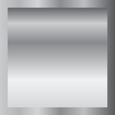 Silver gradient background. Silver design texture for ribbon, frame, banner. Abstract silver gradient template. Metal shine steel plate. Metallic light chrome pattern Vector illustration. Vectores