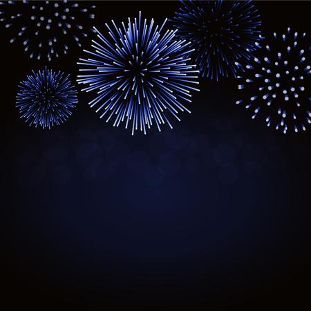 Firework sparkle card pattern design. Illustration