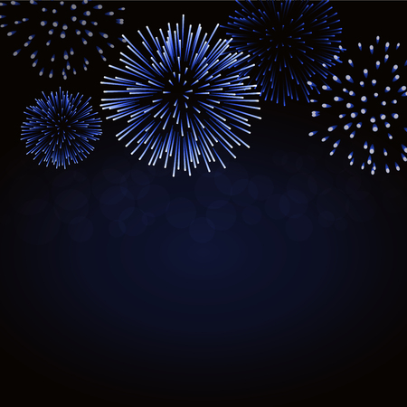 Firework sparkle card pattern design. Illustration