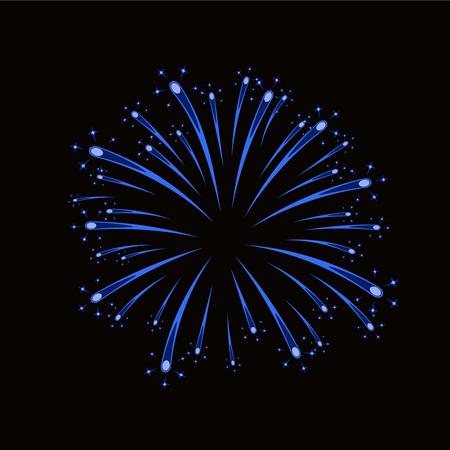 Beautiful blue firework.