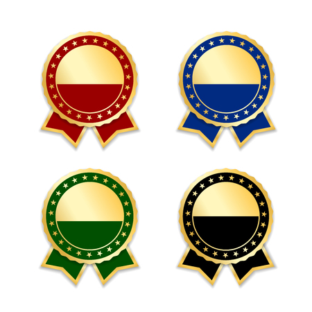 Award ribbons isolated set.