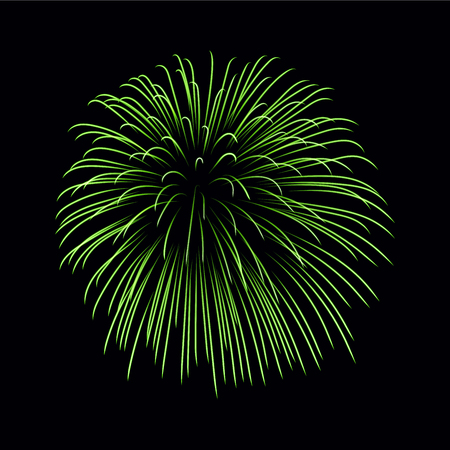 Beautiful green firework.