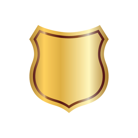 Gold shield shape icon.