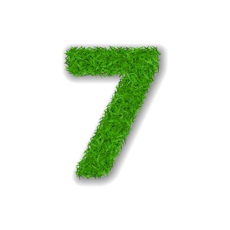 Grass number seven design vector illustration Ilustrace