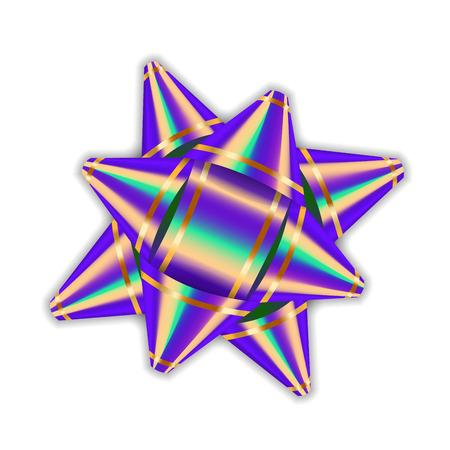Web purple bow ribbon 3d decor element package shiny color satin decoration gift present isolated white transparent negle Choice Image