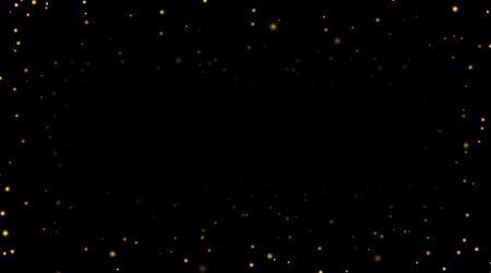 Night sky with gold stars on black background. Dark astronomy space template. Galaxy starry pattern wallpaper. Shiny golden stars, night sky universe. Cosmos stars wallpaper Vector illustration.
