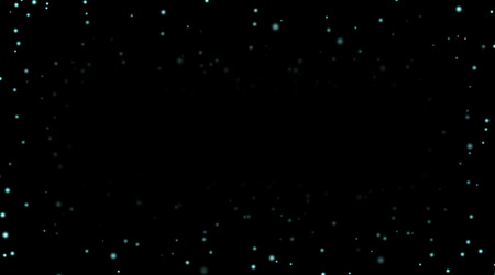 Night sky with blue stars on black background. Dark astronomy space template. Galaxy starry pattern wallpaper. Illustration