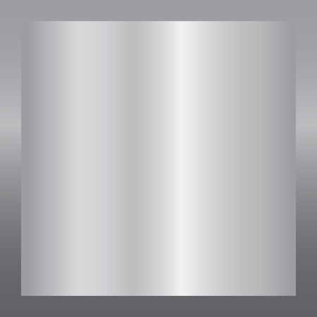 Silver gradient background. Silver design texture for ribbon, frame, banner. Abstract silver gradient template. Metal shine steel plate. Metallic light chrome pattern Vector illustration Illustration