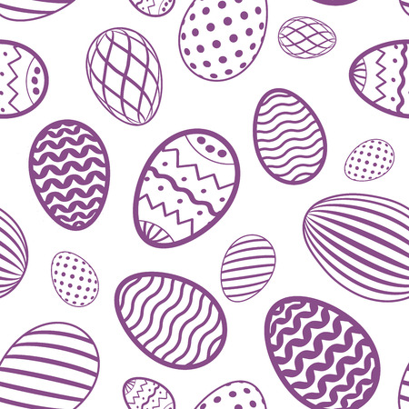 Easter egg seamless pattern. Pastel color, holiday eggs texture. Simple abstract decorative template for Happy Easter celebration. Stylized cute ornament wallpaper, card, fabric Vector illustration Ilustração