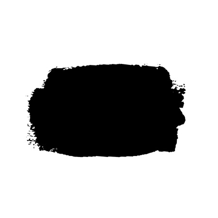 Brush stroke isolated on white background. Black paint brush. Grunge texture stroke line. Art ink dirty design. Border for artistic shape, paintbrush element. Brushstroke graphic Vector illustration Illustration