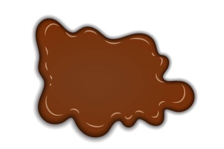 Chocolate sweet splash. chocolate liquid blot isolated white background. Abstract shape dessert spot. 3D realistic design element. Food decoration. Milk, dark chocolate splashing Vector illustration