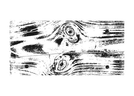 Wood texture white black. Wooden planks pattern overlay texture. Grunge sketch effect. Crack motif for design wall, floor, rustic, old, rough. Stylish retro abstract background Vector illustration