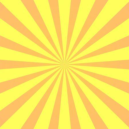 Supereroe di sfondo giallo. Trama sfumata del fumetto super eroe. I raggi del sole scoppiano. Raggio di sole irradiato, effetto burst retrò. Boom del flash della luce del raggio di sole. Illustrazione di vettore del manifesto dello starburst del sole del modello Vettoriali