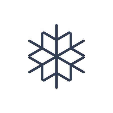 Snowflake icon. Black silhouette snow flake sign, isolated on white background. Flat design. Symbol of winter, frozen, Christmas, New Year holiday. Graphic element decoration. Vector illustration 스톡 콘텐츠 - 129926076